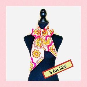 Talbots Silk Floral Scarf pink